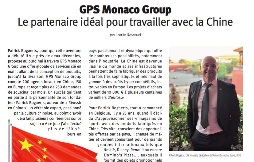 GPS Monaco Group et Patrick Boagaerts - Monaco Economie Nov 2018